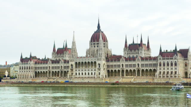 Budapest Hungarian Parliament Building On Danube River