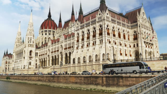 budapest hungarian parliament building - boat point of view stock videos and b-roll footage