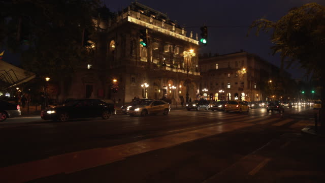 budapest hungarian state opera house in andrássy road - traditionally hungarian stock videos & royalty-free footage
