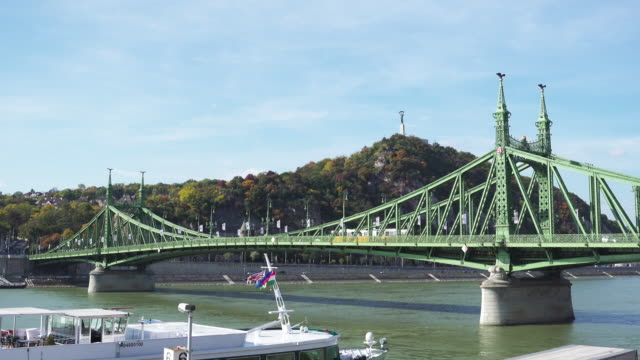 budapest liberty bridge - liberty bridge budapest stock videos & royalty-free footage