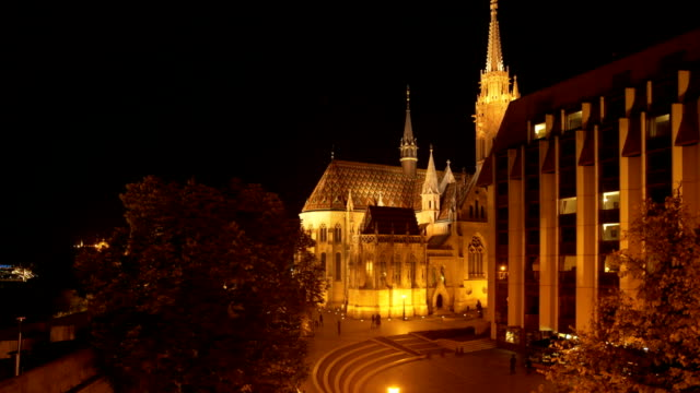 Budapest Matthias Church And Hotel Building On Fisherman's Bastion