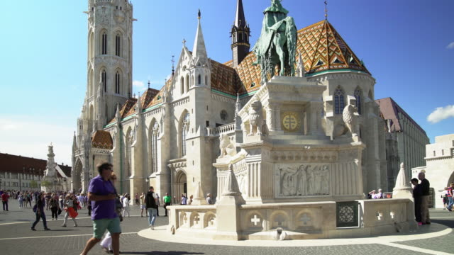 Budapest Matthias Church on the Fisherman's Bastion