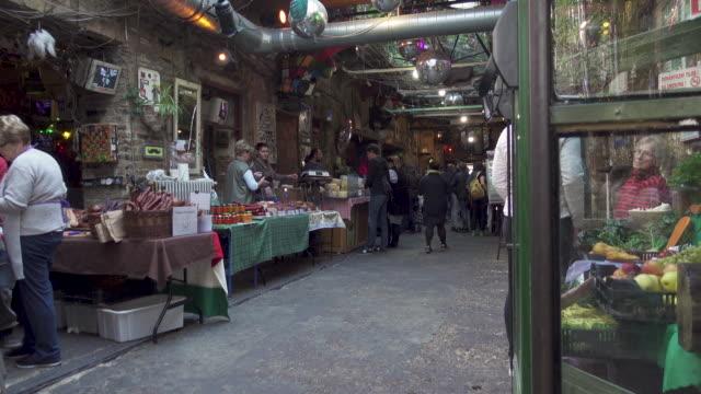 budapest outdoors market at szimpla - farmer's market stock videos & royalty-free footage