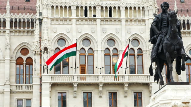 budapest parliament building facade cinemagraph - hungary stock videos & royalty-free footage