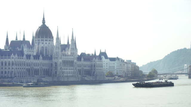 Budapest Parliament Building In The Morning Dust