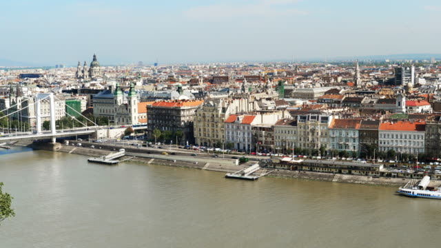 Budapest Pest Riverbank And St. Stephen's Basilica
