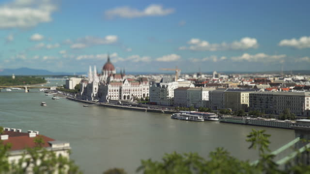 Budapest Pest Riverside And The Parliament Building