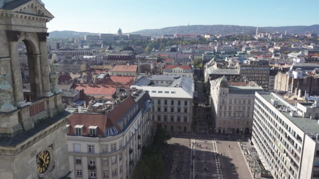 Budapest Saint Stephen Basilica square high angle point of view