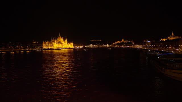 夜北からブダペスト スカイライン - ブダペスト点の映像素材/bロール