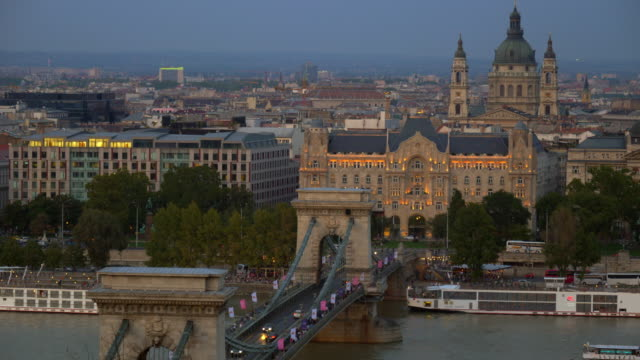 Budapest Skyline With Chain Bridge And St. Stephen's Basilica