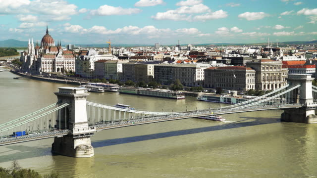 Skyline de Budapest Chain Bridge et le Parlement