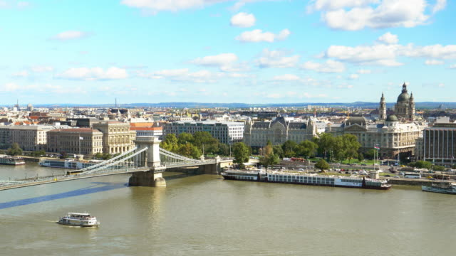 Budapest Skyline With Chain Bridge