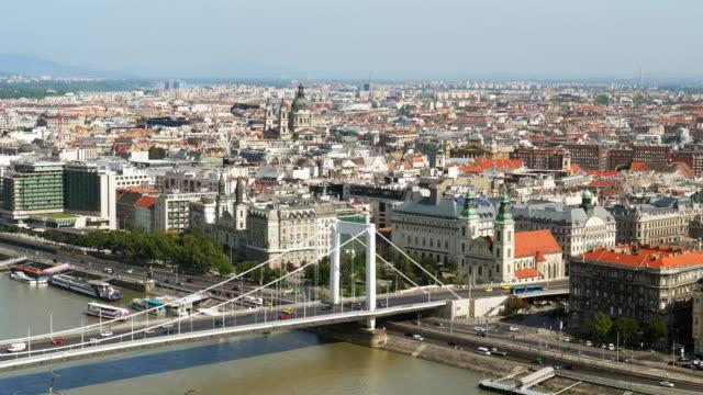 Budapest Skyline with Elisabeth Bridge and Inner City Parish Church
