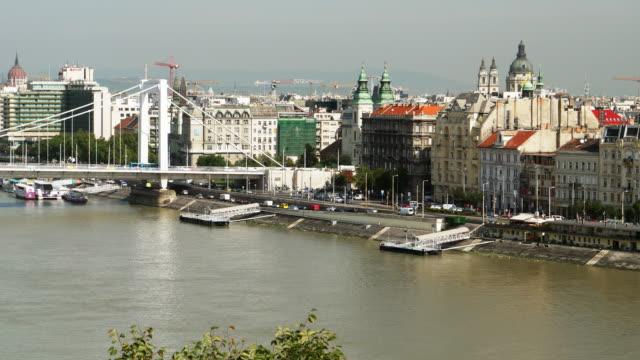 Budapest Skyline With Elisabeth Bridge