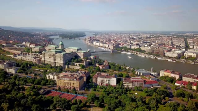 Budapest, the Danube river with Castle Hill