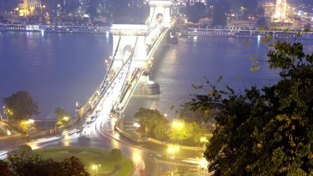ブダペストトラム、ブリッジ - 鎖橋点の映像素材/bロール