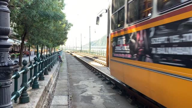 budapest tram going by - hungary stock videos & royalty-free footage