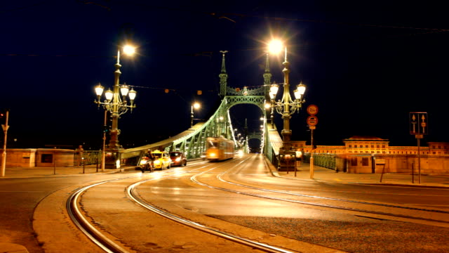 budapest - liberty bridge budapest stock videos & royalty-free footage