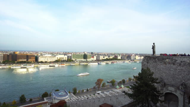 budapest viewed from buda castle hill - royal palace of buda stock videos & royalty-free footage