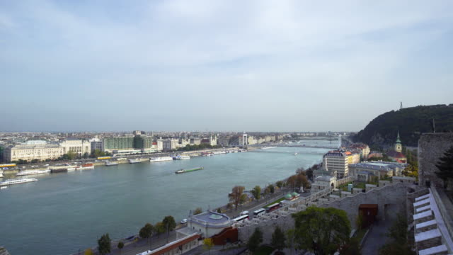 budapest viewed from buda castle hill - castle hill budapest stock videos and b-roll footage