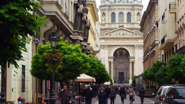 Budapest Zrínyi Utca And St. Stephen's Basilica