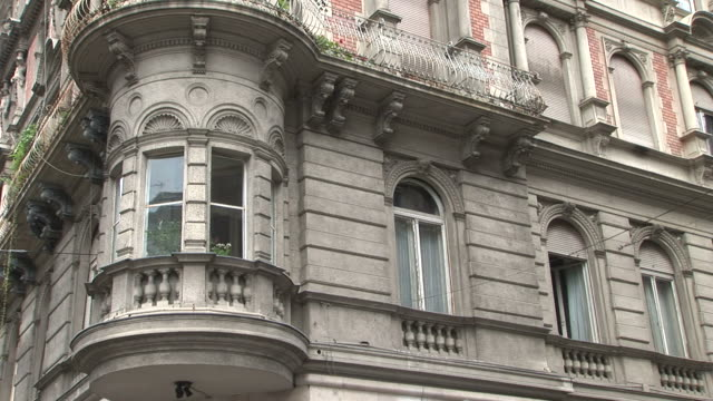 budapestclose view of a building in budapest hungary - traditionally hungarian stock videos & royalty-free footage
