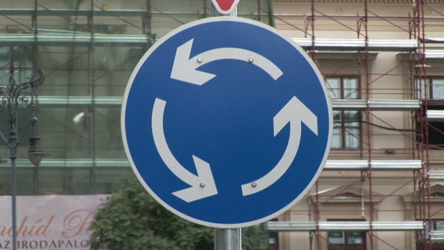 budapestclose view of a traffic sign in budapest hungary - traditionally hungarian stock videos & royalty-free footage