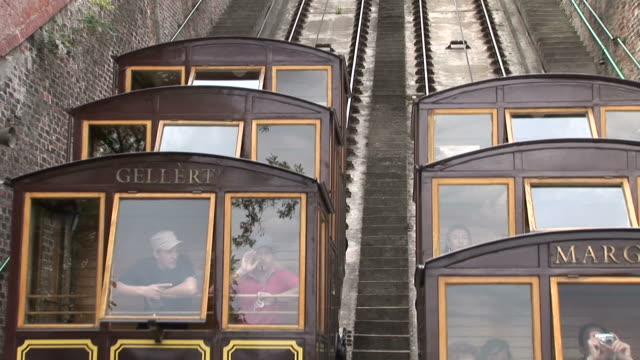 BudapestClose view of Funicular railway in Budapest Hungary