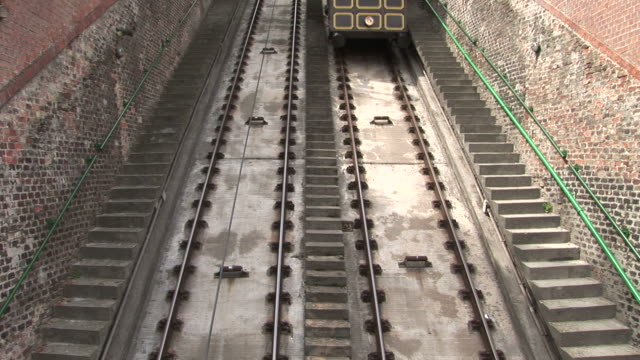 budapestclose view of funicular railway in budapest hungary - traditionally hungarian stock videos & royalty-free footage