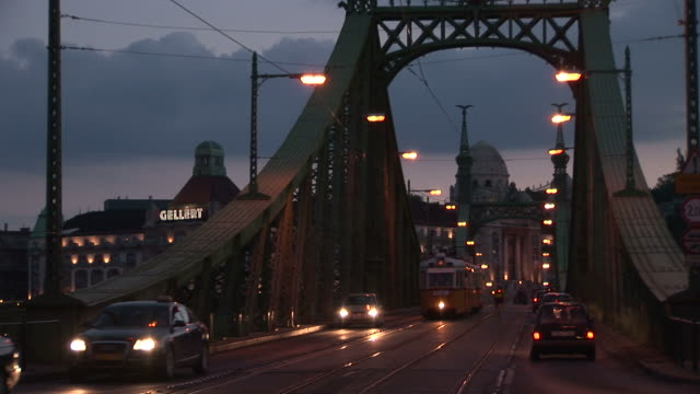 budapestclose view of liberty bridge in budapest hungary - traditionally hungarian stock videos & royalty-free footage