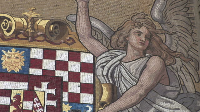 budapestclose view of mosaic art in budapest hungary - traditionally hungarian stock videos & royalty-free footage