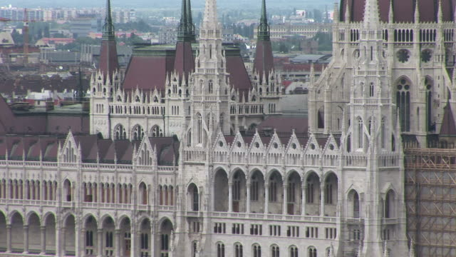 budapestclose view of parliament in budapest hungary - traditionally hungarian stock videos & royalty-free footage