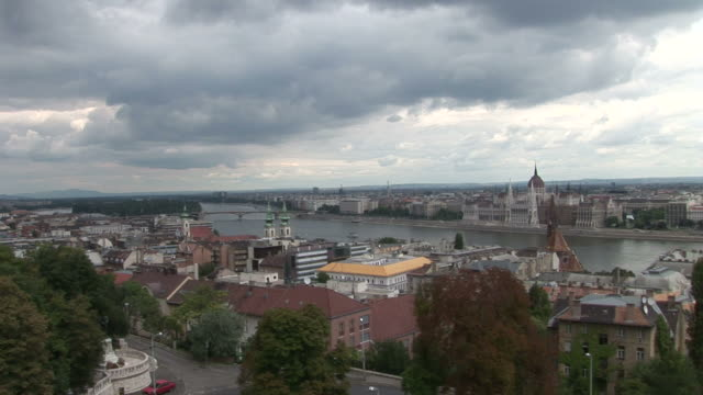 budapestlong view of city of budapest hungary - traditionally hungarian stock videos & royalty-free footage