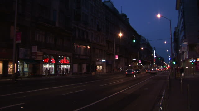 budapestnight traffic in the city of budapest hungary - traditionally hungarian stock videos & royalty-free footage