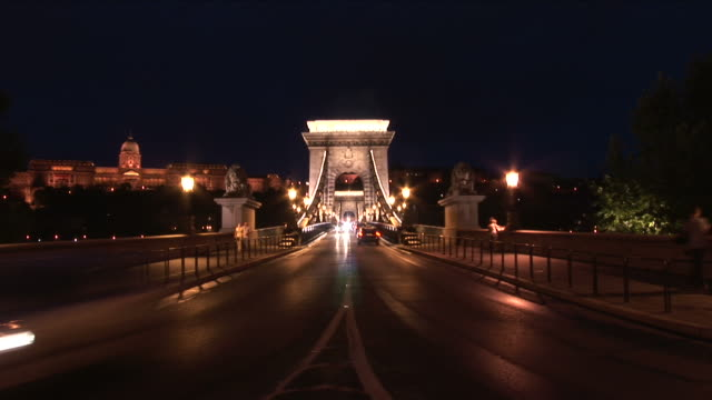 BudapestNight view of Chain Bridge in Budapest Hungary