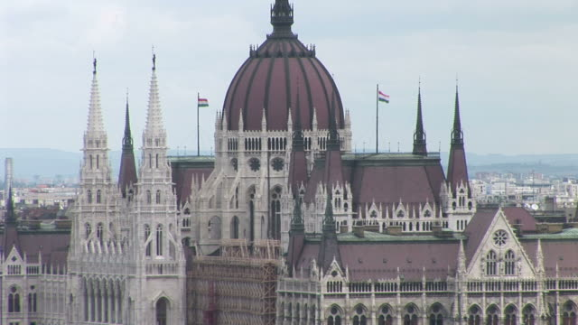 budapestparliament building in budapest hungary - traditionally hungarian stock videos & royalty-free footage