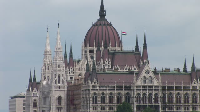 budapestparliament house in budapest hungary - traditionally hungarian stock videos & royalty-free footage