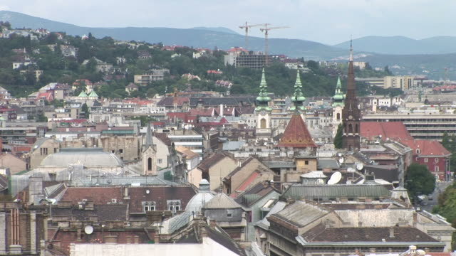 budapesttop view of old town in budapest hungary - traditionally hungarian stock videos & royalty-free footage