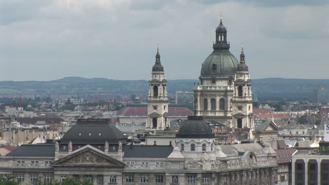 budapesttop view of saint stephen's basilica in budapest hungary - traditionally hungarian stock videos & royalty-free footage