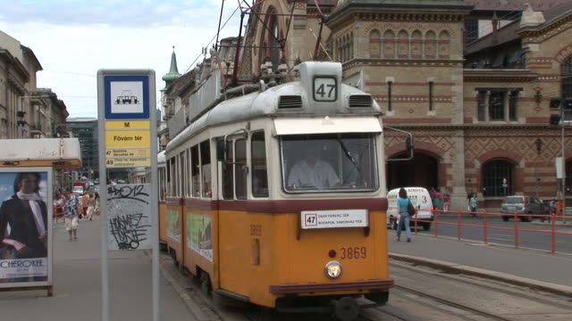 budapesttram transportation in budapest hungary - traditionally hungarian stock videos & royalty-free footage