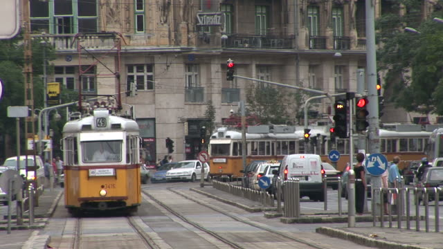 budapestview of a city in budapest hungary - ungarische kultur stock-videos und b-roll-filmmaterial