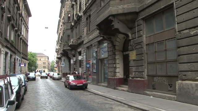 budapestview of a street in budapest hungary - traditionally hungarian stock videos & royalty-free footage