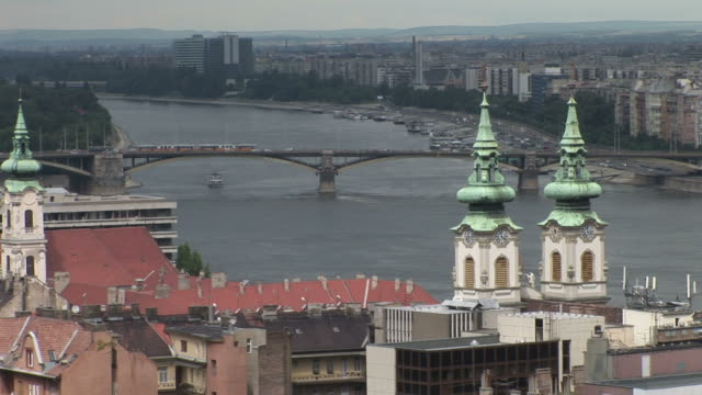 budapestview of danube river in budapest hungary - traditionally hungarian stock videos & royalty-free footage