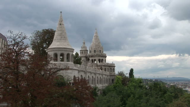 budapestview of fishermen's bastion in budapest hungary - traditionally hungarian stock videos & royalty-free footage