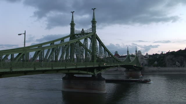 budapestview of liberty bridge in budapest hungary - traditionally hungarian stock videos & royalty-free footage