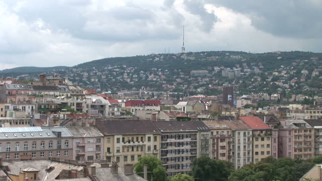 budapestview of residential area in budapest hungary - traditionally hungarian stock videos & royalty-free footage