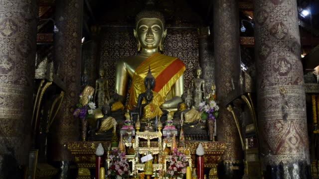 MS Buddha figure in temple / Luang Prabang, Luang Prabang, Laos