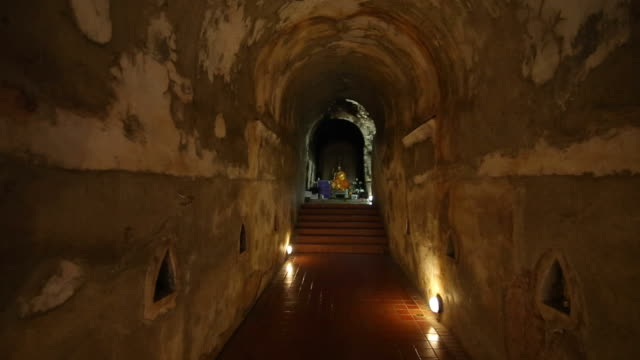 buddha in tunnel; chiang mai province - temple body part stock videos and b-roll footage