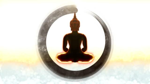 仏瞑想 - 宗教上のシンボル点の映像素材/bロール