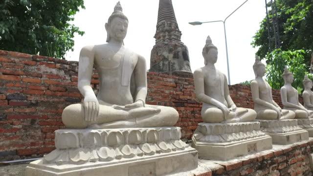 buddha statue at ayuthaya, thailand - ayuthaya province stock videos and b-roll footage